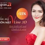 OFF 15% Thẩm mỹ khuôn mặt VLine 3D: Xem trước kết quả, chuẩn tỉ lệ VÀNG