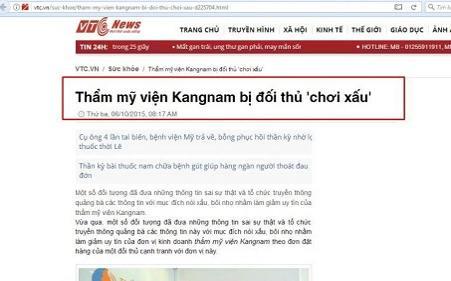Sự thật về thẩm mỹ viện kangnam gây chết người trên báo vtc